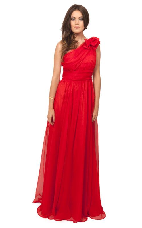 Röd balklänning